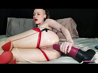Adalynnx thick anal creampie with chance flared dildo