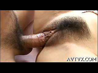 Arousing oriental muff toying