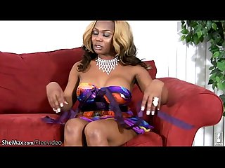 Chubby ebony doll with balls exposes bigtits and big shecock