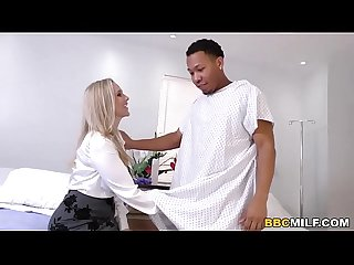 Busty Cougar Julia Ann Handles Big Black Cock At The Surgery