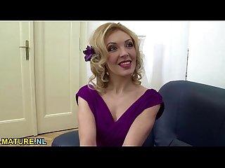 Hot blonde milf fucks in pov style