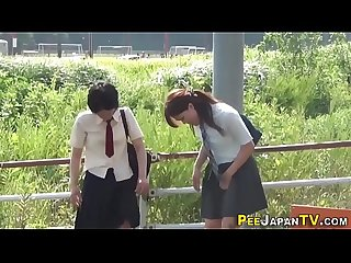 Peeing japanese teens