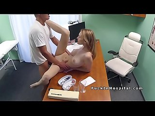 Doctor shoves big cock into blonde patient