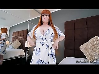Redhead girlfriend takes control on big cock