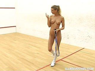 Kinky teen lesbians play squash