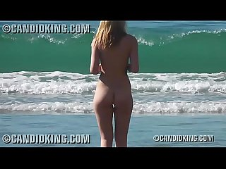 Sexy young blonde naked on the nude beach