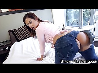 Teen stepsister throats