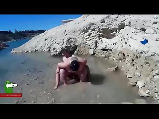 Sex party in the beach with the fat woman ADR0591