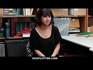 Shoplyfter corrupt teen Blackmailed fucked