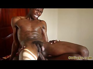 Gay tribal barebacking with african guys