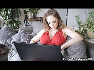 Busty Stepmom Caught Stepson Watching Porn