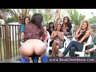 Pussy licking cfnm party outdoors