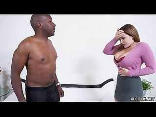 Super size black cock makes natasha nice moan