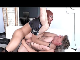 Black shemale tranny ass nailing dude