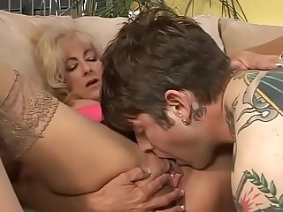 Tattooed young boy and the wild Milf