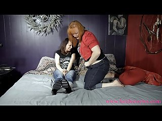 Playful Lesbian Spanking: Heidee & Pandora Trailer