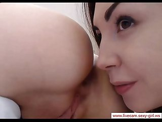 webcam lesbian fingering and asslicking