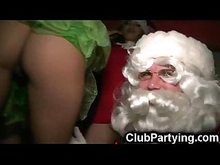 Santa cums on party girls