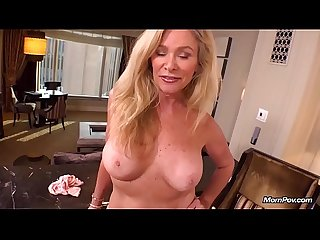 Hot mature blonde milf fucks young cock pov