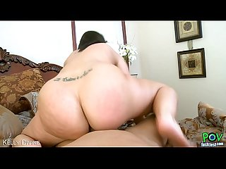 Brunette Kelly Divine suck cock in POV style