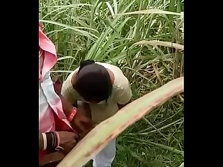 Desi couple outdoor caught