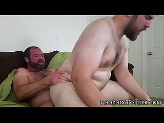 Hairy gay cocksucker barebacked by hardcore bear