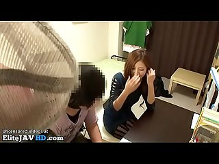 Japanese home teacher footjob to student more at elitejavhd com