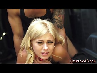 Teen babe gets bdsm fuck