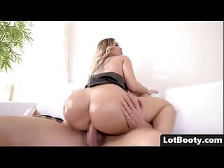 Fat ass busty babe Assh Lee gets asshole fucking