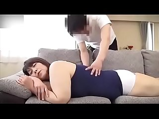 Yamaguchi atsuko helping mother massage to make her orgasm comma then mother helps son blowjob