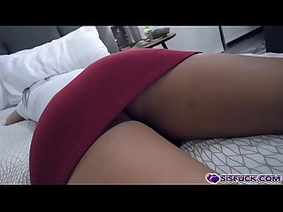 Step bro plays with Amara Romanis pussy