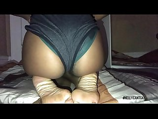 sexy ebony playing with her feet and twerking ass