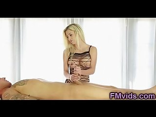 Busty hot blonde sienna day fetish handjob