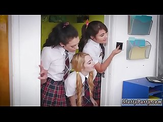Tiny teen ass rim and two brunette one guy xxx After School Detention