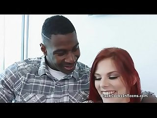 Big black dick in hot redhead