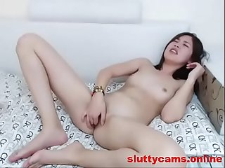 Petite asian babe likes to finger on cam more at http sluttycams online