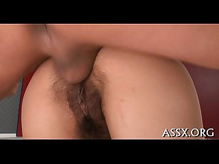 Oriental bawdy cleft and anal fuck