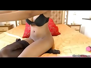 Sexy ebony shows her big tits and perfect ass