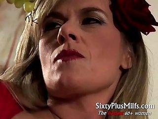 Big pierced mature tits