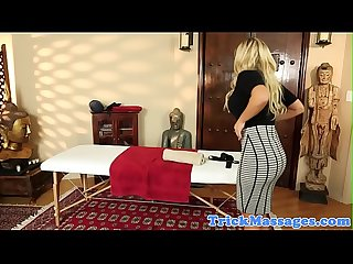 Massage beauty orally pleasured on spycam