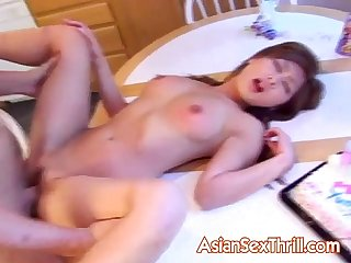 Japanese slut pounding on birthday party