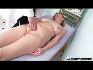Horny doctor taking a close