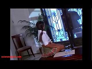 Asiananalgirls period com asian teen schoolgirl in Pigtails get anal black monster cock