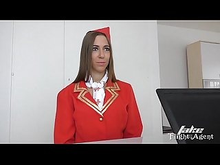 Hungarian hottie from fakeflightagent fucked
