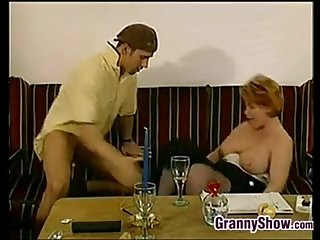 Horny German Granny Getting Pounded