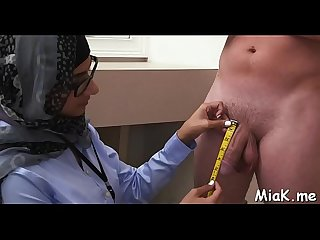 Arab horny hottie demonstrates her skills in cock sucking and riding