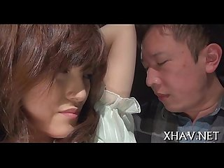 Japanese slut fucks with sex tool
