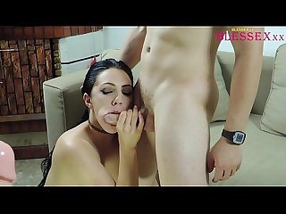 He finds his wife milf with a huge dildo and joins the party Pamela sanchez jesus sanchezx
