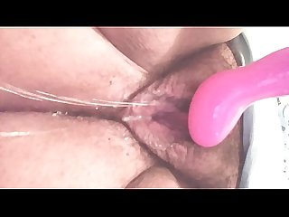 Wife plays until she squirts