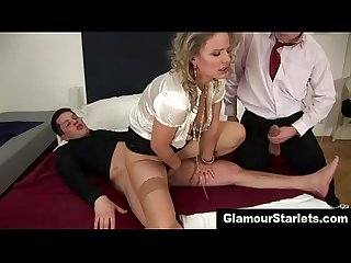 Dp stockings whore takes it
